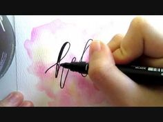 Learn Watercolor and Calligraphy with INEXPENSIVE materials just an Ordinary watercolor and a Pen :) the trick is to thicken all those down strokes Follow my...