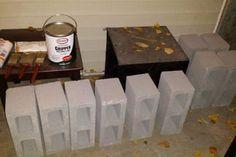 Cinder Block Bed Frame / Storage Bed : 10 Steps (with Pictures) - Instructables Diy Storage Bed, Bed Frame With Storage, Diy Bed Frame, Milk Crate Furniture, High Beds, Milk Crates, Concrete Furniture, Concrete Blocks, Architectural Presentation