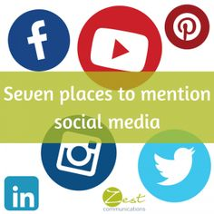 Seven place to mention social media! #smm #socialmedia