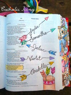 Not Catholic, but LOVE the tabs and art here! Good inspiration for any Bible journaling. <3