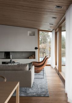 An Outdated Swedish Villa is Transformed Into a Spacious, Elegant and Luxurious Residence - Nordic Design Home Design Decor, Modern Interior Design, Interior Design Inspiration, Modern House Design, Interior Architecture, 60s Home Decor, Architecture Life, Design Ideas, Design Styles