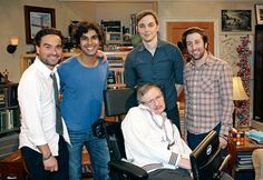 Stephen Hawking and the cast of The Big Bang Theory