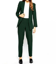 Fashionable ladies suit Turquoise Ladies Formal Pant Suits for Weddings Womens Business Suits Blazer Business Outfit Frau, Business Attire, Business Outfits, Office Outfits, Stylish Outfits, Office Fashion, Work Fashion, Formal Pant Suits, Suits For Women