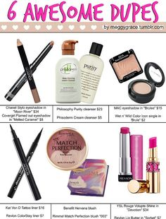 6 awesome dupes