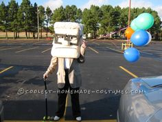Coolest Carl from Up Paper Mache Costume...  Halloween Costume Contest