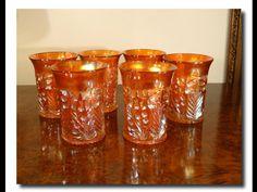 Hoy Publicamos: Maravillosos Vasos de Carnival Glass - Czechoslovakia - Circa: 1930.-