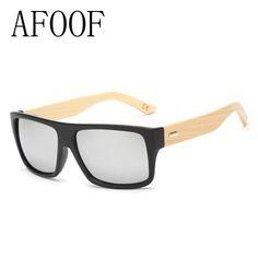 AFOOF 2016 New Fashion Bamboo Sunglasses Men Sun glasses Brand Designer  Women Mirror Original Eyewear Oculos de sol Masculino 4845ed9844