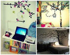"""tem os papeis de parede em frases (já estou indo atrás para colocar uma frase no meu quarto), achei super foto esse """"Sweet dreams"""" com os passarinhos."""