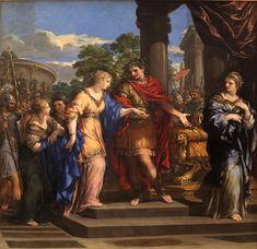 Pietro da Cortona: Caesar giving Cleopatra the Throne of Egypt