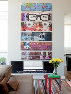 panorama photos of graffiti art placed on canvas. LOVE this