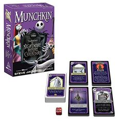 The Nightmare Before Christmas Munchkin Card Game - USAopoly - Nightmare Before Christmas - Games at Entertainment Earth Christmas Love, Christmas Cards, Christmas Presents, Xmas, Nightmare Before Christmas Games, Up The Movie, Jack The Pumpkin King, Playing Card Games, Jack And Sally