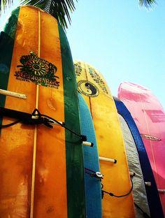 Waikiki Beach,Hawaii...surf boards