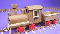 Cardboard Model, Cardboard Crafts, Paper Crafts, Diy For Kids, Crafts For Kids, Arts And Crafts, Transportation Crafts, Doll House Wallpaper, Motor Dc