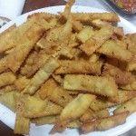 Straccetti piccanti di pizza fritta