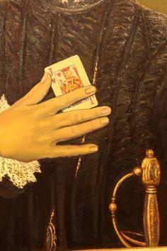 Detalle de interpretación de Caballero de la mano en el pecho-El Greco Knight, Hands