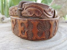 Hand Tooled Western Leather Belt by YearsSinceYesterday, Western Belts, Hand Tools, Westerns, Im Not Perfect, Leather Crafts, Woods, Texas, Denim, Etsy