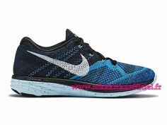 check out d5768 3e8e1 Site Nike Flyknit Lunar 3 Chaussures Officiel Nike Pour Homme Bleu Noir  Blanc…