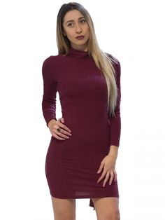 BSB Πλεκτό ελαστικό ζιβάγκο μίντι φόρεμα