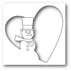 Memory Box 99801 Snowman Heart Collage wafer thin craft die made from steel. Christmas Cards Drawing, Boxed Christmas Cards, Handmade Christmas, Memories Box, Paper Folding Crafts, Snowflake Template, Heart Collage, Memory Box Dies, Create Your Own Card