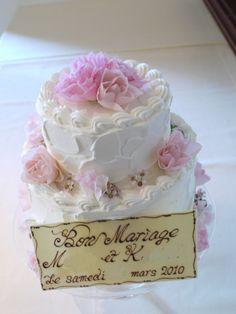 ケーキに飾る花 ピンク : 一会 ウエディングの花