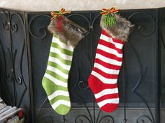 Striped+Fur+Monogrammed+or+Personalized+Christmas+by+polkadotsmg,+$24.95