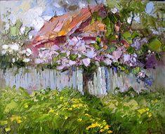 Henri Matisse, Farm Paintings, Cottage Art, Russian Painting, Farm Art, Classic Paintings, Building Art, Landscape Artwork, Rainbow Art