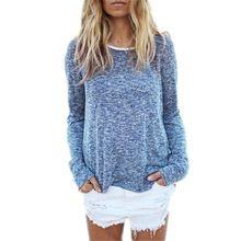 Mulheres europeia nova moda suéter e pulôver de 2015 venda quente O Long Neck Sleeve sólidos Plus Size S-2XL Knit Wear Tops puxar Femme(China (Mainland))
