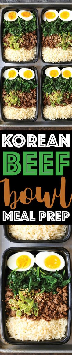 Korean Beef Bowl Meal Prep Korean Beef Bowl Meal Prep - Tastes like Korean BBQ in meal prep form and you can have it ALL WEEK LONG! Simply prep for the week and you'll be set. Lunch Meal Prep, Meal Prep Bowls, Healthy Meal Prep, Healthy Eating, Healthy Cooking, Weekly Meal Prep, Easy Cooking, Korean Beef Bowl, Korean Bbq