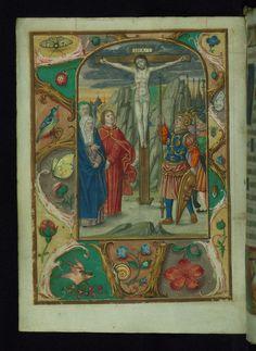 Book of Hours of the family de la Porte Crucifixion Walters Manuscript W.433 fol. 17v by Walters Art Museum Illuminated Manuscripts