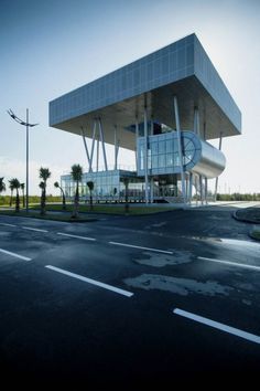 Striking Architecture Framed with Steel and Glass   Lazika Municipality Building   image