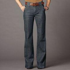 Style Pantry | Plaid Shirt   70s High Waist Twill Wide Leg Pants ...