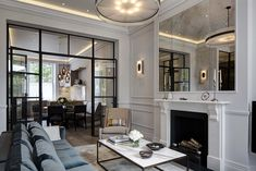 Residential | Antique Mirror above fireplace