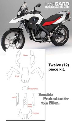 InvisiGARD Invisible Clear Paint & Headlight protection kits for BMW G 650 GS