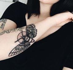 @theresajhnna Moth Tattoo