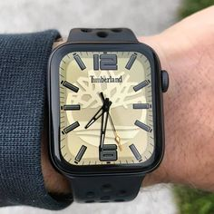 Timberland II Watch Face on Apple watch Series Pin it if you Like ❤ Apple Watch Apps, Apple Watch Series 3, Apple Watch Fashion, G Watch, Apple Watch Accessories, Watch Faces, Square Watch, Cool Watches, Fashion Watches