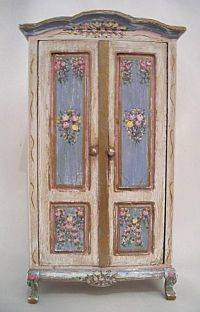 miniature painted armoire