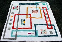 """OOohh! Such fun! """"Interlock"""" quilt (pattern at link) by Kelly Bowser of Kelbysews."""