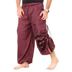 Hajotrawa Little Kids Boy Hippie Elastic Waist Multiple Pockets Sweatpants Jogger Pants