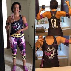 If you wanted our galaxy leggings but missed them at RollerCon we'll have these and our exclusive mermaid designs with us in Philly this week! Stop by our booth at Champs to snag your own pair! : thefitsmith Thanks to @frogmouthclothing for the reversible arm bands & tank! Loving my #babetties Rollercon leggings for training & skating.