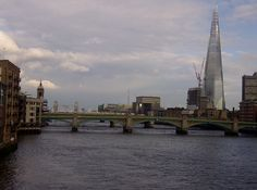 Walking across the Millennium Bridge and taking in the views