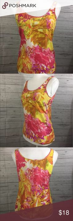 "J.Crew Printed Silk Pocket Tank J.Crew  Printed Silk Pocket Tank  Womens 2  Color: Pink and Yellow  100% Silk   Measurements Approximate: Armpit to Armpit - 17"" Shirt Length - 18"" J. Crew Tops Tank Tops"