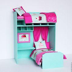 Barbie Furniture Tutorial, Diy Barbie Furniture, Doll House Crafts, Doll Crafts, American Girl Doll Room, American Girl Furniture, Poupées Our Generation, Barbie Bedroom, Doll House Plans