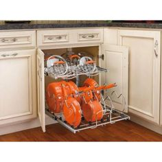 Rev-A-Shelf X-Large Two-Tier Cookware Organizer-5CW2-2122-CR at The Home Depot