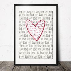 Poster LOVE por nanajuu en Etsy