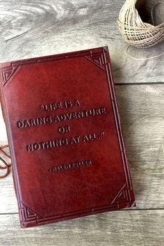 These quote inspired leather journals make such great gifts.