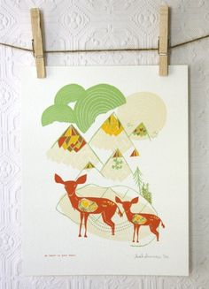 I think I need this print from Leah Duncan for my house.