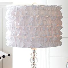 """White is a great color choice for this area of your home.""  www.karenrauchcarter.com Tuxedo Ruffle Shade"