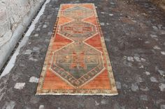 Free Shipping 3.3 ft x 9.8 ft Decorative Rug by VintageDecoRugs