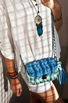 Mint and blue crochet clutch Boho mini clutch Evening clutch purse Bridesmaid clutch Wedding clutch Mini messenger bag – Crochet Bag İdeas. Crochet Case, Free Crochet Bag, Crochet Clutch, Crochet Handbags, Knit Crochet, Bag Pattern Free, Bag Patterns To Sew, Crochet T Shirts, Crochet Clothes