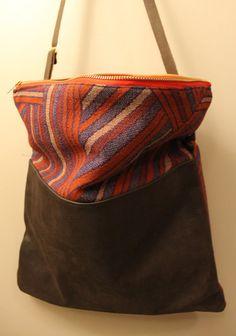 red geometric foldover bag foldover purse crossbody bag